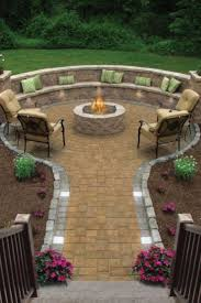 Building A Raised Patio With Retaining Wall by Best 25 Paver Fire Pit Ideas On Pinterest Fire Pit On Pavers