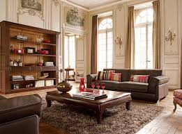 small living room furniture arrangement yellow walls skylights