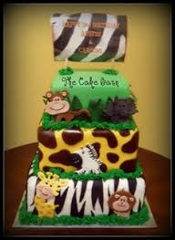 butter cream frosting baby shower giraffe cakes images boy baby