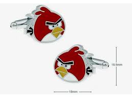 shirt colour plated stylish angry birds novelty cufflinks