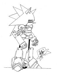 coloring pages sonic mecha sonic coloring pages cartoon pinterest