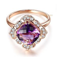 deco vintage 14k rose gold wedding anniversary ring 2 65 ct