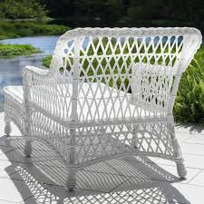 White Plastic Wicker Patio Furniture - everglades white resin wicker patio chaise lounge by lakeview