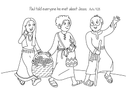 free bible coloring page paul u0027s journey