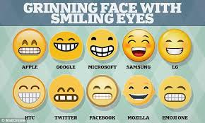 Meme Faces In Text Form - grinning face emoji looks so different on iphones and android