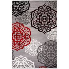 Red Black White Area Rugs Red And Gray Area Rugs Roselawnlutheran