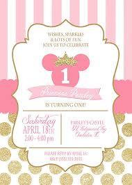 printable princess minnie mouse birthday by camaleekatestudio