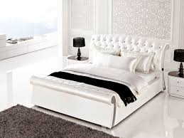 Full Size Bedroom Sets King Bedroom Semi Gloss White Bedroom Suite W Sleigh Like