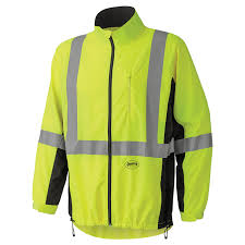light cycling jacket pioneer hi viz safety apparel