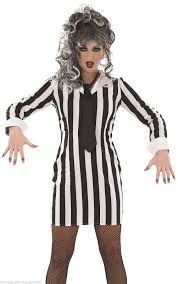 womens ghost halloween costumes halloween beetle costume black white stripe mad woman fancy dress