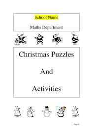 maths christmas activities booklet by ryansmailes teaching