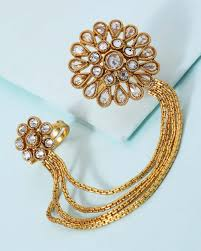 necklace chain with ring images Buy dual ring attached with chain for women online india voylla jpg