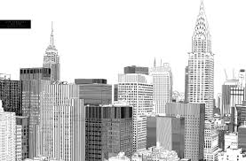 new york city skyline drawing drawing sketch picture
