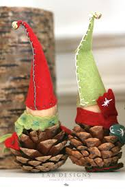 eab designs pine cone elves diy christmas craft