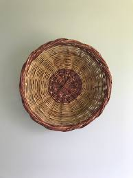 large oversized flat wall basket large woven willow basket