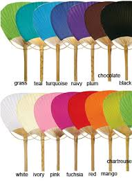 paper fans for weddings solid color paper paddle fans wedding fans my