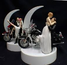 harley cake topper or wedding cake topper w harley davidson motorcycle