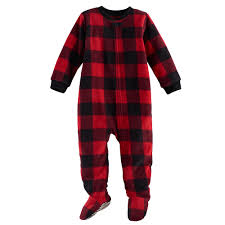 baby jammies for your families buffalo plaid microfleece footed