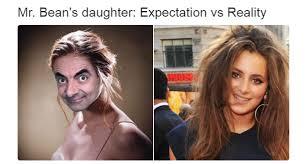 Daughter Meme - mr beans daughter meme guy