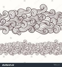 Design An Invitation Card Curly Waves Seamless Border Pattern May Stock Vector 351392369
