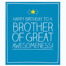 wonderful blue color birthday greeting card for brother picsmine