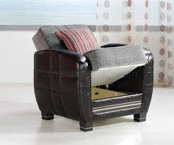 grey u0026 black two tone living room w storage sleeper sofa