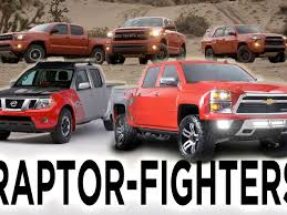 ford raptor vs toyota tundra chevrolet toyota and nissan their raptor fighters