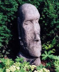 garden sculptures large easter island statue s s shop