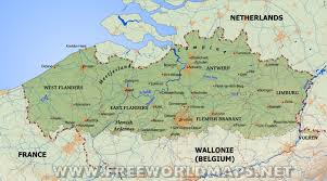 physical map of belgium flanders physical map