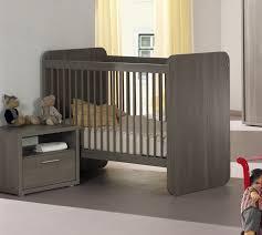 chambre evolutif lit bébé évolutif contemporain coloris bouleau gris luca lit