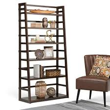 36 inch bookcase with doors acadian 72 x 36 inch wide ladder shelf bookcase shelves living