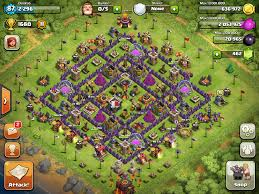 Coc Map Clash Of Clans Tips Town Hall Level 10 Layouts