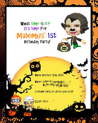 momma munchies bubble guppies halloween birthday invitation