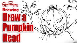 how to draw a pumpkin head spoken tutorial youtube