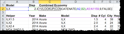 faster multiple criteria vlookup with concatenate