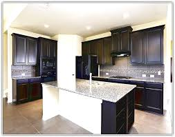 Espresso Kitchen Cabinets Espresso Kitchen Cabinets With White Appliances Home Design Ideas