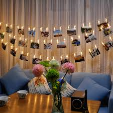 string lights with picture clips 5m 50 led clip string lights fashion photos battery led decoration