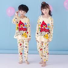 autumn winter children pajamas sleeve catamite