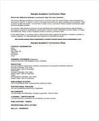 Template For Academic Resume 8 Academic Curriculum Vitae Templates Free Sample Example