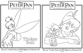 free peter pan coloring pages