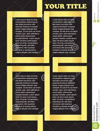 black and yellow ribbon yellow ribbon background page layout design stock vector image