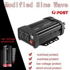 ls with usb outlets 1500w dual dc 12v to 110v ac outlets power inverter car adapter 2
