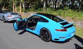 first porsche car 2017 porsche 911 carrera s first drive in miami blue videos