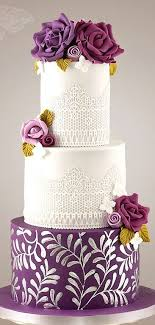 silver wedding cakes the 25 best purple wedding cakes ideas on pastel