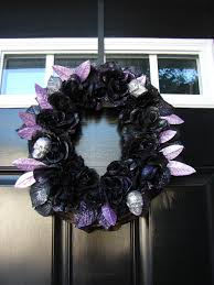 homemade halloween decorations the painted rabbit black and purple
