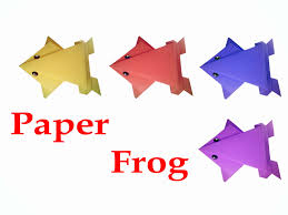 how to make origami frog very easy diy crafts youtube