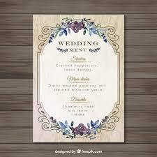 diy wedding menu cards templates diy wedding menu template plus menu cards templates