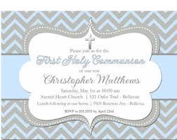communion invitations for boys boy communion invite etsy