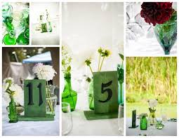 Metal Vases For Centerpieces by Vintage Glass Vases And Handmade Table Numbers From Vintage Metal