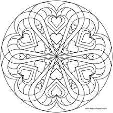print free coloring free mandala color hearts